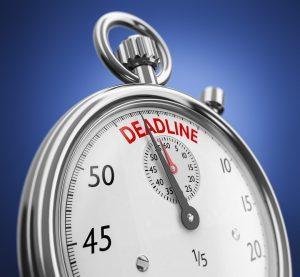 respecting deadline