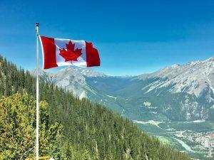 The Canadian flag is something you will constantly see after moving to Canada.